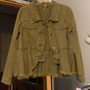 Forest green denim jacket